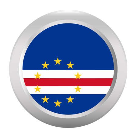 cape: Button with flag of Cape Verde