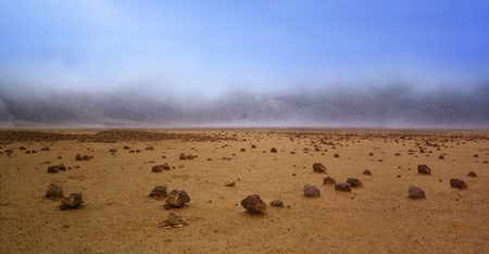 Barren landscape of the planet Mars photo