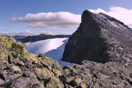 Mountain Summit ridge in Swedish mountains. photo