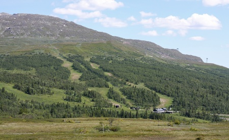 Skiing Slope during summer where slopes are visible.