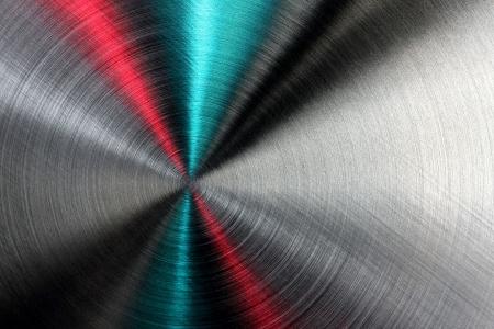 Brillante resumen textura metálica de color azul, rojo y plata, los patrones de rayos. Foto de archivo - 12584546
