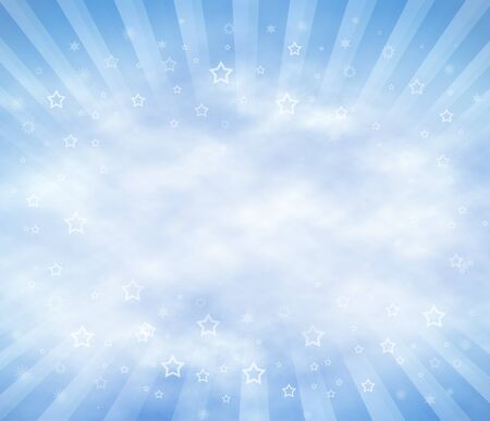 Abstract Sky Background with clouds and sun rays. Copy Space. photo