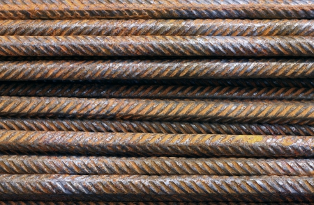 Hard Metal texture pattern of rusty rebars. photo