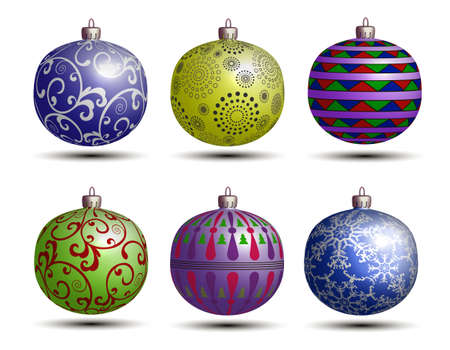 synopsis: Christmas colored balls