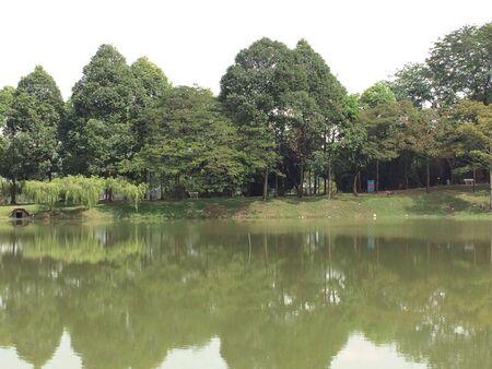 Lakeside scenery Banco de Imagens