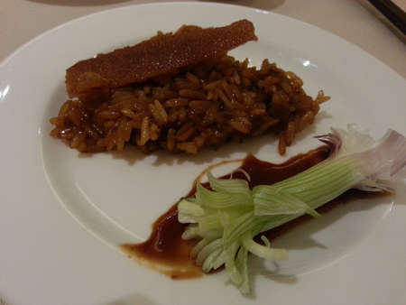 Sticky rice with roast pork