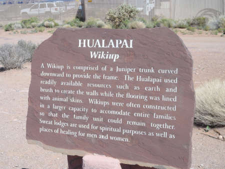 Hualapai Native American signboard.