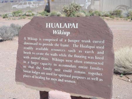 signboard: Hualapai Native American signboard.