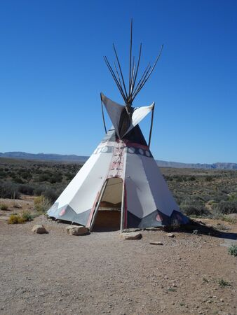 teepee: Native American teepee Stock Photo