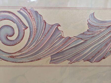 Spiral design on tile