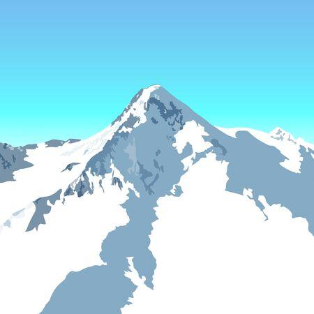 snowy alpine peak