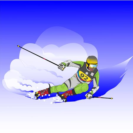 realistic image of a skier on a snowy slope