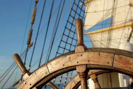 old boat: Steering wheel