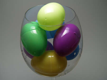 easter eggs in wine glass Stock Photo - 13077379