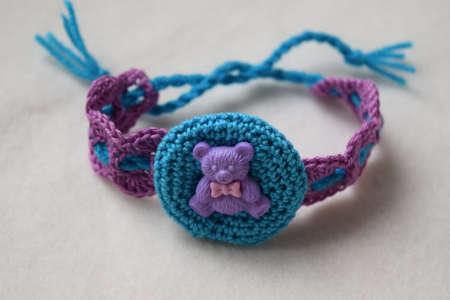knitted headband, hair band Stock Photo