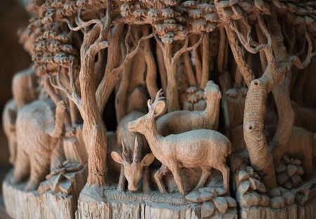 Wood crafting hand gemaakt door Thailand.