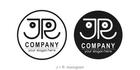Letter JR logo or monogram. blank for business card. For your business.