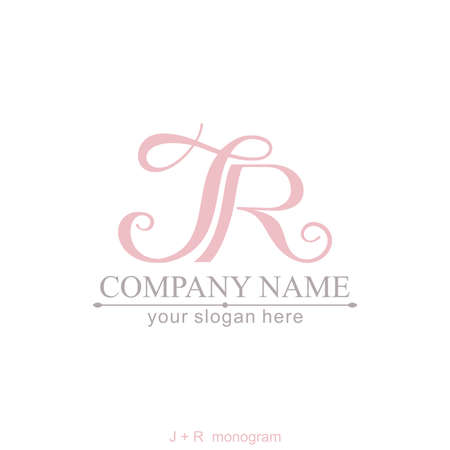 Letter JR logo or monogram. blank for business card. For your business.