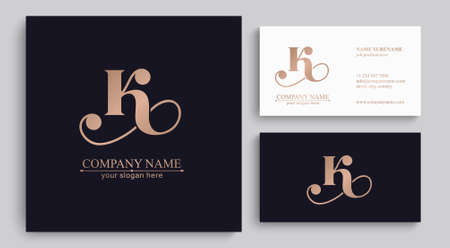 Letter K logo icon design template elements. Elegant rich logo. Personal logo. Letter logo