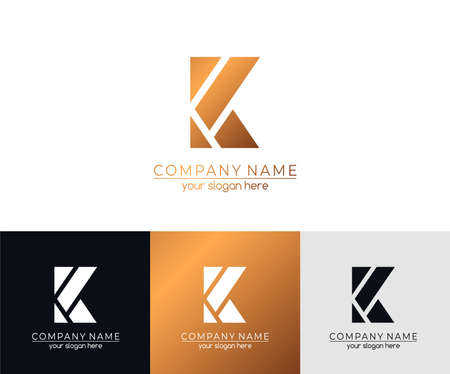Letter K logo or monogram. blank for business card. For your business.