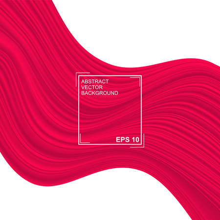Red background. Abstract illustration of a fabric or liquid wave. Background for design. Vector luxury silk and wave texture  イラスト・ベクター素材