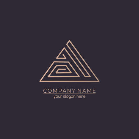Letter logo or monogram. blank for business card. For your business. Vector sign. Luxurious linear creative monogram.