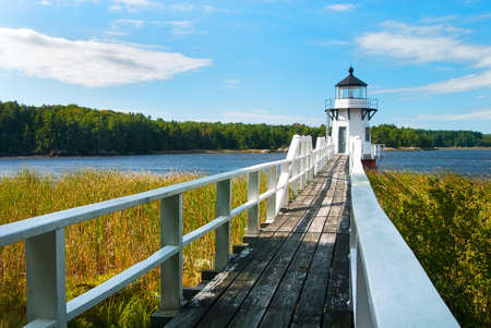 doubling: Doubling Point Range light was built along a sharp bend in the Kennebec River in Maine to protect shipping traffic.
