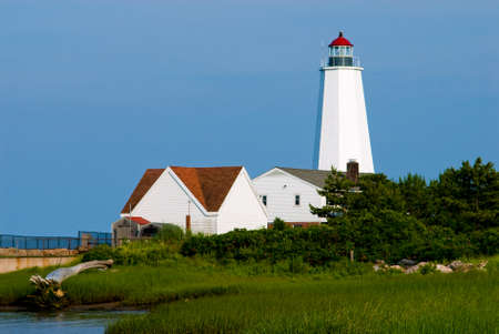 guiding light: Lynde Point lighthouse was rebuilt, creating a higher tower, helping mariners to see the lighthouse more clearly thorugh the marsh fog.