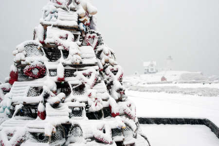 Lobster Trap holiday trees are a unique tradition on the New England seacoast.