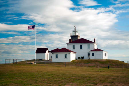 Watch Hill Lighthouse is a popular beacon built during the Colonial period.