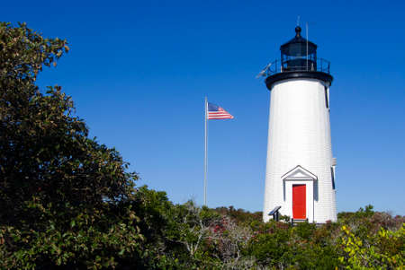 wildlife refuge: Cape Poge lighthouse is located on Chappaquiddick Island on the northeast point of the Cape Poge Wildlife Refuge. Stock Photo