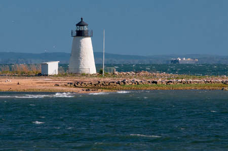 bird sanctuary: Bird Island lighthouse lies on an island that is also a state bird sanctuary.