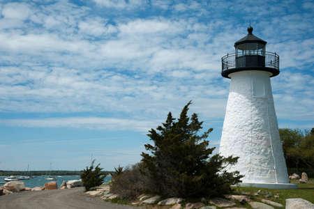 guiding light: Neds Point lighthouse guides mariners into Mattapoisett Harbor in Massachusetts.