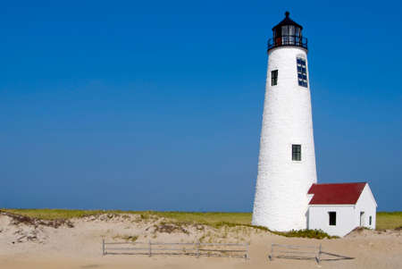 great: Great Point Lighthouse on Nantucket Island, Massachusetts.
