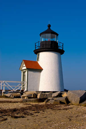 rebuilt: Brant Point light has been rebuilt nine times to become the most rebuilt lighthouse.