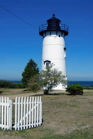 telegraph hill: East Chop light on Marthas Vineyard in Massachusetts.