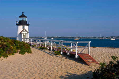Brant Point Lighthouse is one of the most famous lighthouses in Massachusetts.
