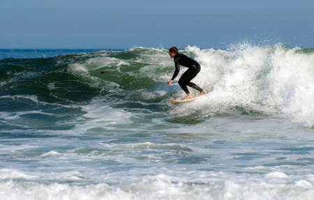 waters: Surfing in cold New England ocean waters.
