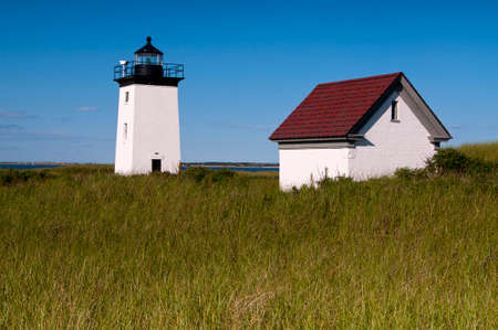 Long Point Light on a warm summer afternoon near Provincetown, MA