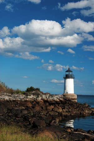 guiding light: Fort Pickering lighthouse in Salem, Massachusetts.
