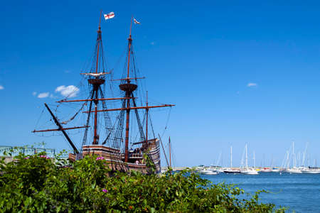 Mayflower II is a popular attraction in Plymouth, Massachusetts. It is an exact replica of the original Mayflower that brought the Pilgrims to America.