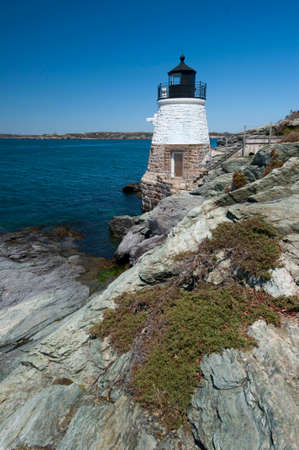 Castle Hill lighthouse in Rhode Island's Newport Harbor.