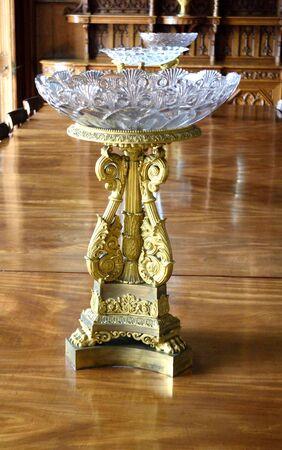 alupka: vase in Vorontsov Palace in Alupka in Crimea