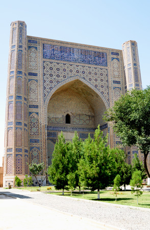 samarkand: Ancient Bibi Khanum Mosque Samarkand Stock Photo
