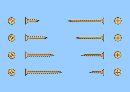 screws: Set of different length screws