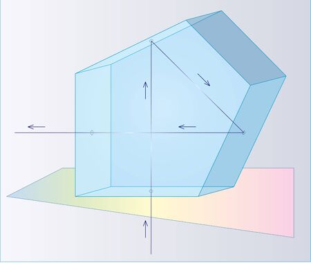 reflex camera: Image of the beam path in the pentaprism