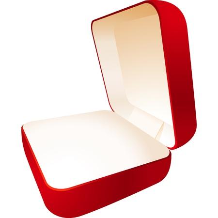 관점보기에서 빨간색 보석 상자; EPS8