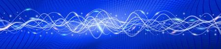 oscillation: Flying antecedentes de onda, la versi�n azul A; EPS10 Vectores