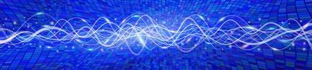 oscillation: Flying antecedentes de onda, la versi�n azul B; EPS10