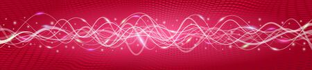 Flying wave backgrounds; The red version A; EPS10 Vector